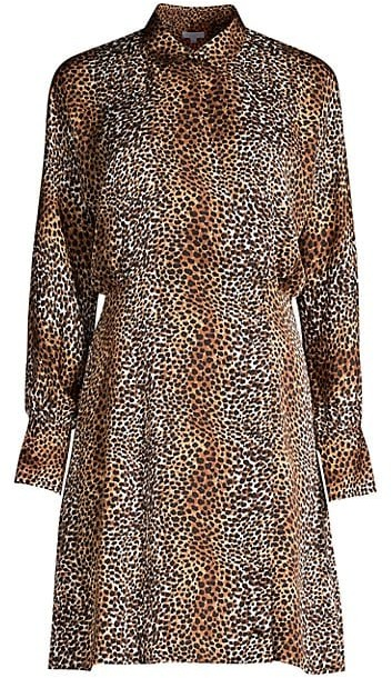 Equipment Harmone Leopard Print Shirtdress