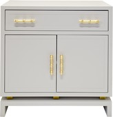 Worlds Away Grey Lacquer Cabinet