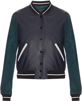 Rag & Bone Alix contrast leather and suede bomber jacket