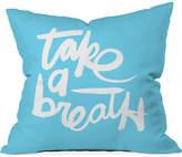 "Deny Designs Kal Barteski Take Blue 16"" Square Decorative Pillow"