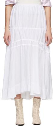 Brock Collection White Linen Susanna Skirt