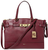 Lauren Ralph Lauren Darwin Tumbled Leather Satchel