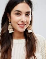 DesignB London Tassel Drop Statement Earrings (+)