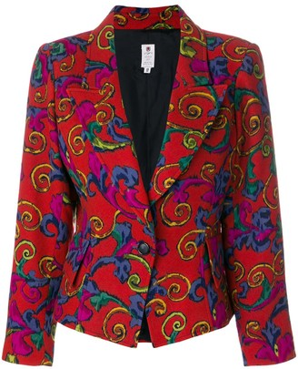 Emanuel Ungaro Pre Owned Abstract Floral Blazer
