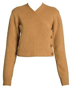 Bottega Veneta Women's Brushed Wool Asymmetrical Cardigan