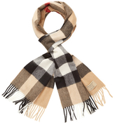 """Burberry Large Classic Check Cashmere Long Scarf, 78"""" x 14"""""""