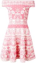 Alexander McQueen floral jacquard mini dress - women - Polyamide/Polyester/Spandex/Elastane/Viscose - M