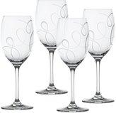 Mikasa Love Story Set of 4 Crystal Wine Glasses