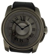 Cartier Calibre de W7100028 Titanium & Leather 47mm Watch