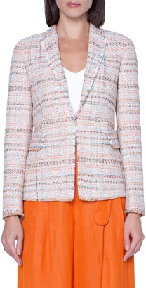 Akris Punto Cotton Blend Tweed Blazer