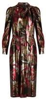 Marc Jacobs Palms silk-blend lamé dress