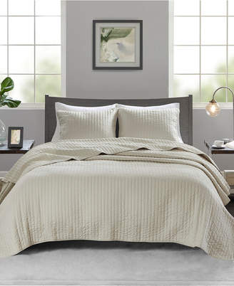 Madison Home USA Keaton 3-Pc. Reversible Quilted Full/Queen Coverlet Set