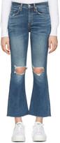 Rag & Bone Blue Crop Flare Jeans