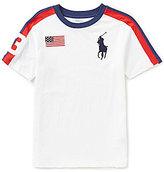 Ralph Lauren Big Boys 8-20 Americana Flag Stripe Short-Sleeve Tee