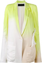 Haider Ackermann degrade smocked blazer