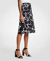 Ann Taylor Petite Floral A-Line Skirt