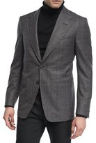Tom Ford Prince of Wales Plaid Wool Jacket