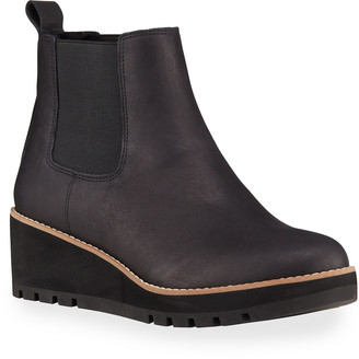 Eileen Fisher Cozy Wedge Pull-On Booties