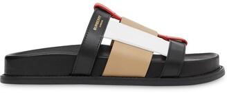 Burberry Colour-Block Slide Sandals