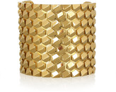 Beehive gold-plated cuff