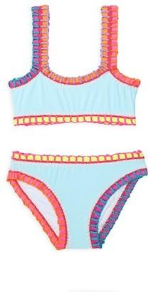 PQ Little Girl's Girl's Pily Q x Solange Ferrarini2-Piece Rainbow-Embroidered Bikini Set