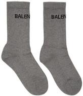 Balenciaga Grey Tennis Socks