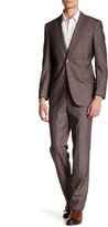 English Laundry Check Two Button Peak Lapel Suit