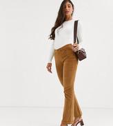Vero Moda Tall cord straight leg pants in tan