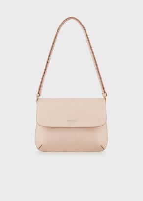 Giorgio Armani Large La Prima Bag In Palmellato Leather