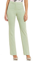 Kasper Petite Stretch Crepe Straight-Leg Pants