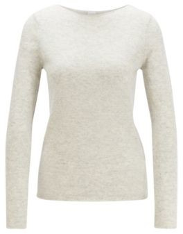 BOSS Regular-fit sweater in pure cashmere