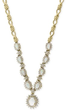 Effy Opal (2-1/4 ct. t.w.) & Diamond (2 ct. t.w.) Statement Necklace in 14k Gold
