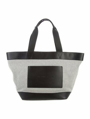Alexander Wang Leather-Trimmed Canvas Tote Black