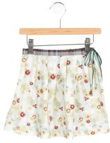 Makie Girls' Floral Print A-Line Skirt