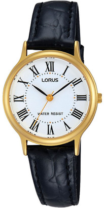Lorus Rrs58Vx-9 Gold Roman Numeral Dress Watch