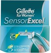 Gillette Sensor Excel Women's Razor Blade Refills, 10 Count