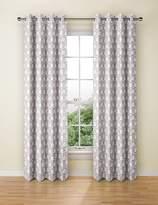 Marks and Spencer Hexagonal Geometrical Print Eyelet Curtains