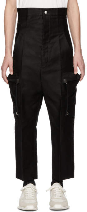 Rick Owens Black Dirt Cargo Pants