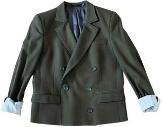 BLK DNM Green Cotton Jacket for Women