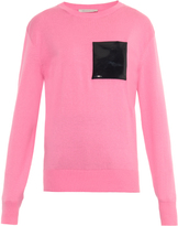 Christopher Kane Patent leather-pocket sweater