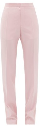 Pallas Paris Goya Satin Side-stripe Wool-crepe Trousers - Light Pink