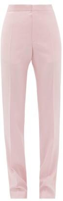 Pallas X Claire Thomson-jonville - Goya Satin Side-stripe Wool-crepe Trousers - Womens - Light Pink