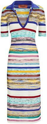 Missoni Stripe Knit Polo Dress