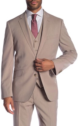 Savile Row Co Mayfair Tan Two Button Notch Lapel Modern Fit Suit Separate Jacket