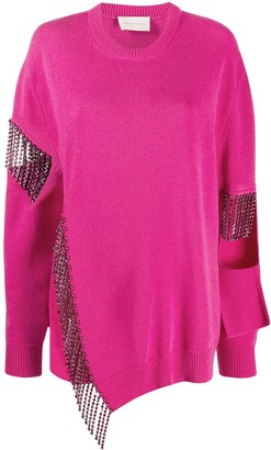 Christopher Kane Cutout Cupchain Deconstructed Jumper
