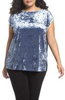 Vince Camuto Plus Size Women's Crushed Velvet Knit Tee
