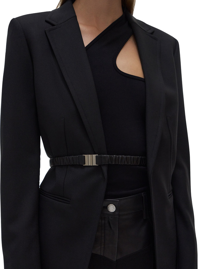 Helmut Lang Fitted Wool Blazer with Belt