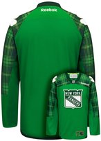 Reebok Men's New York Rangers Saint Patrick's Day Tartan Plaid Jersey