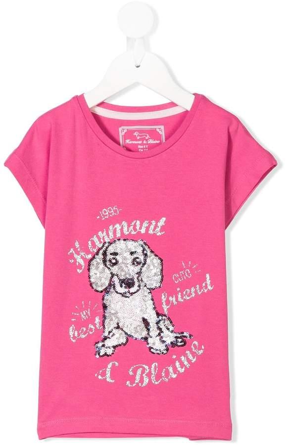 Harmont & Blaine Junior sequin logo T-shirt
