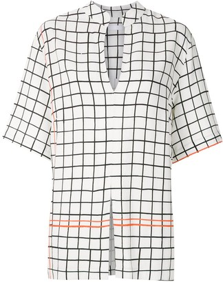 OSKLEN Grid Print Shirt